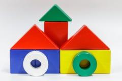 Blocos de madeira do brinquedo Fotografia de Stock
