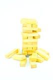 Blocos de madeira do brinquedo isolados no fundo branco Fotos de Stock Royalty Free