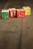 Blocos de madeira do risco Imagens de Stock Royalty Free