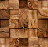 Blocos de madeira empilhados para o fundo sem emenda Imagens de Stock