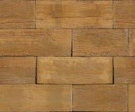 Blocos de madeira naturais empilhados para o fundo Imagens de Stock
