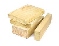 Blocos de madeira no fundo branco Imagem de Stock Royalty Free