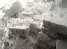 Blocos de neve fotografia de stock