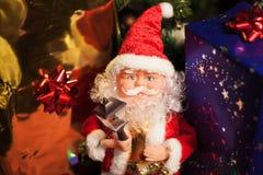 Blocos de Santa e de presente imagens de stock