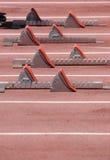 Blocos de Sprint dos corredores Imagem de Stock
