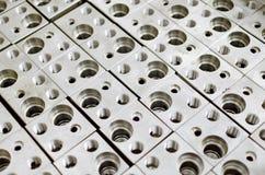 Blocos do aço Fotografia de Stock