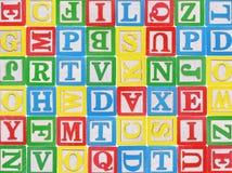 Blocos do alfabeto fotografia de stock royalty free
