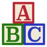 Blocos do alfabeto de ABC ilustração do vetor