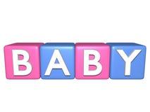 Blocos do bebê isolados no branco Fotos de Stock Royalty Free