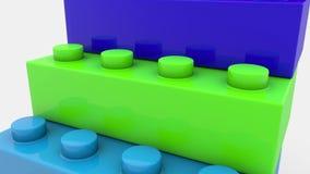 Blocos do brinquedo em várias cores ilustração royalty free