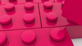 Blocos do brinquedo na cor vermelha ilustração stock
