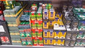 Blocos do café em uma loja Fotografia de Stock