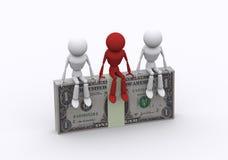 Blocos do dólar. Imagens de Stock Royalty Free