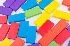 Blocos do dominó de vária cor Fotografia de Stock Royalty Free