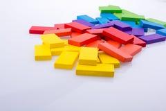 Blocos do dominó de vária cor Fotos de Stock Royalty Free