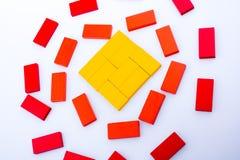 Blocos do dominó de vária cor Imagem de Stock
