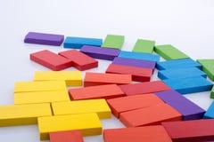 Blocos do dominó de vária cor Foto de Stock