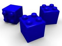 Blocos do lego do brinquedo ilustração do vetor