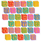 Blocos do russo do alfabeto Fotografia de Stock Royalty Free