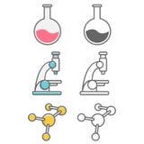 Blocos dos ícones das profissões da ciência Imagens de Stock
