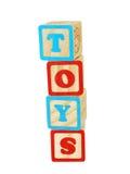 Blocos dos brinquedos Foto de Stock Royalty Free