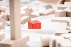Blocos educacionais feitos da madeira natural Imagens de Stock Royalty Free