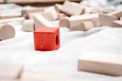 Blocos educacionais feitos da madeira natural Foto de Stock
