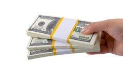 Blocos grandes dos dólares à disposicão Foto de Stock Royalty Free