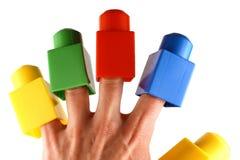 Blocos nos dedos Imagem de Stock