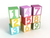 Blocos numéricos do bebê Fotografia de Stock Royalty Free