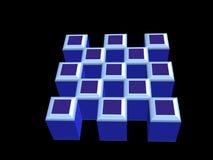 blocos rendidos 3d Imagens de Stock