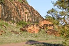Blocos vermelhos da rocha Foto de Stock