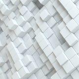 Blocs abstraits de blanc Photographie stock libre de droits