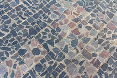 Blocs antiques de pierre dans la ville antique de l'Européen Grodno photos stock