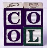 Blocs avec des alphabets Images stock