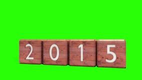 2014 blocs changeant en 2015 illustration stock