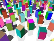 Blocs colorés Image stock