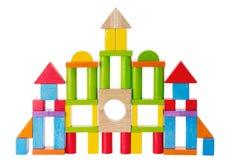 Blocs colorés de château de jouet de gosses Photo libre de droits