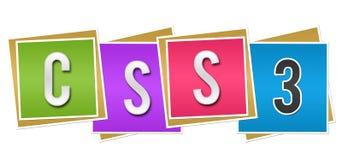 Blocs colorés de CSS trois Photo stock
