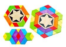 Blocs colorés de jouet dans les groupes Photos libres de droits
