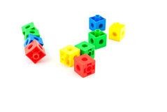 Blocs colorés de jouet de lego Photographie stock libre de droits
