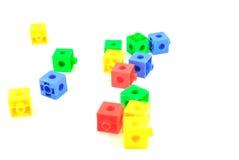 Blocs colorés de jouet de lego Photos libres de droits