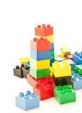 Blocs colorés de pièce de cube Images stock