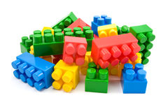 Blocs colorés de plastique Image libre de droits