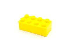 Blocs constitutifs de Lego Plastic sur le blanc Photo stock