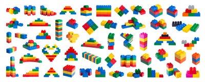 Blocs constitutifs en plastique illustration de vecteur