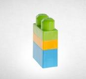 Blocs constitutifs ou blocs constitutifs en plastique sur le fond Photographie stock