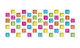 Blocs d'éducation, alphabet Photos libres de droits