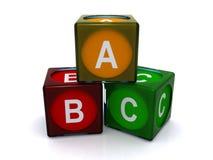 Blocs d'ABC Images stock