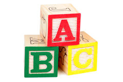 Blocs d'alphabet Photos stock